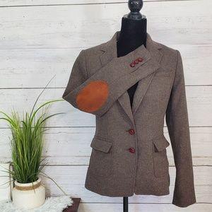 Banana Republic wool tweed blazer jacket
